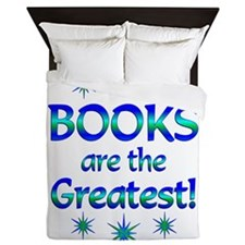 Books are the Greatest Queen Duvet