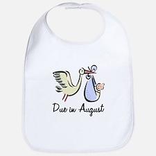 Due In August Stork Bib