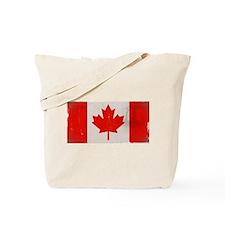 antiqued Canadian flag Tote Bag