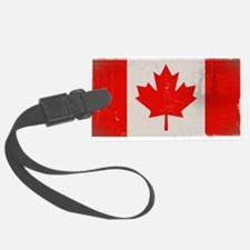 antiqued Canadian flag Luggage Tag