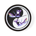 Yin Yang Dolphins Wall Clock