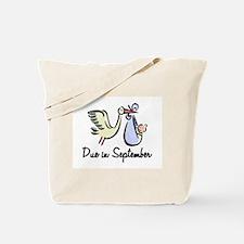 Due In September Stork Tote Bag