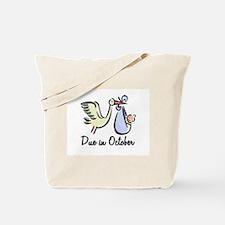 Due In October Stork Tote Bag
