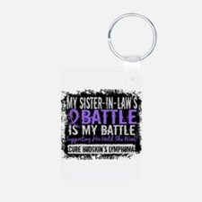 My Battle Too 2 H Lymphoma Keychains