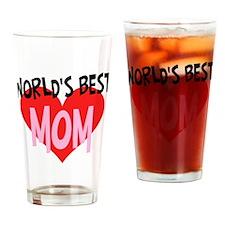 Worlds Best Mom Drinking Glass