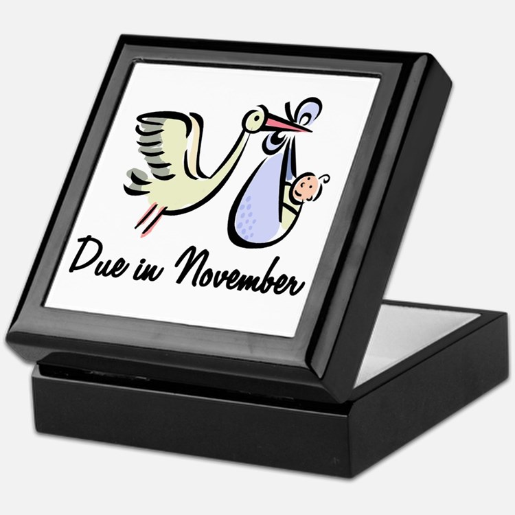 Due In November Stork Keepsake Box