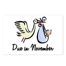 Due In November Stork Postcards (Package of 8)