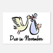 Due In November Stork Postcards (Package of 8)