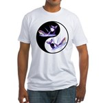 Yin Yang Dolphins Fitted T-Shirt