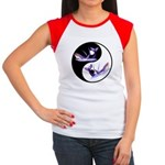 Yin Yang Dolphins Women's Cap Sleeve T-Shirt