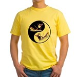 Yin Yang Dolphins Yellow T-Shirt