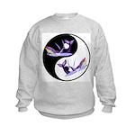 Yin Yang Dolphins Kids Sweatshirt