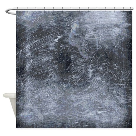 Scratched Metal Industrial Chic Shower Curtain By Rebeccakorpita