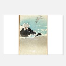 Plovers Over Waves - Anon - 1880 - woodcut Postcar
