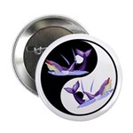 Yin Yang Dolphins Button