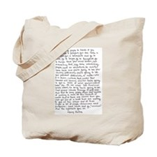 Henry Rollins quote Tote Bag