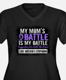 My Battle Too 2 H Lymphoma Women's Plus Size V-Nec