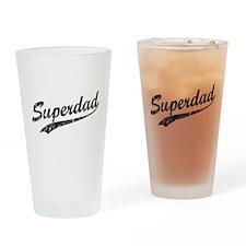 Vintage Super Dad Drinking Glass