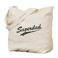 Vintage Super Dad Tote Bag