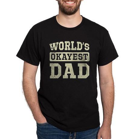 Vintage World's Okayest Dad Dark T-Shirt