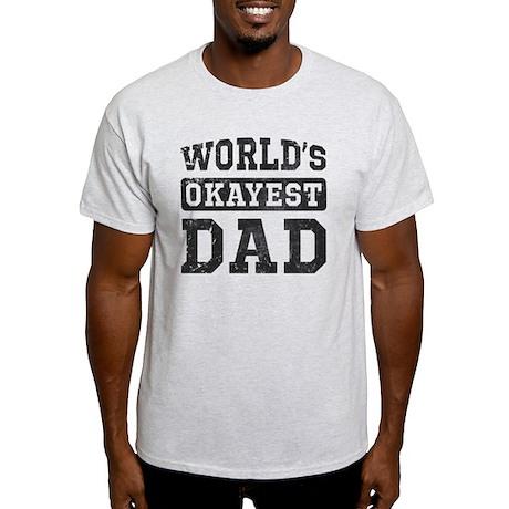 Vintage World's Okayest Dad Light T-Shirt