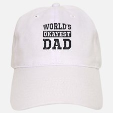 Vintage World's Okayest Dad Baseball Baseball Cap