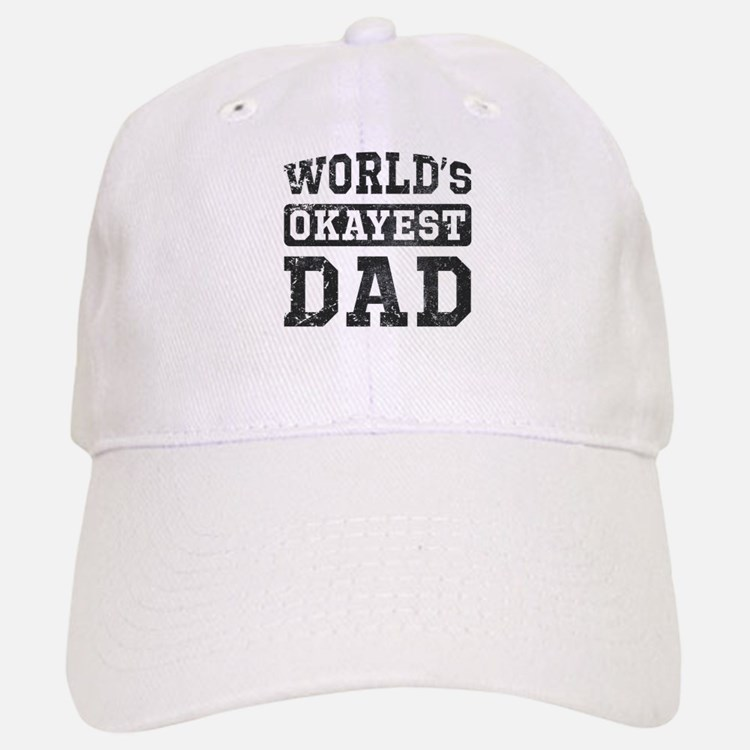 Vintage World's Okayest Dad Baseball Baseball Cap