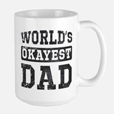 Vintage World's Okayest Dad Large Mug