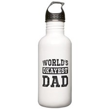 Vintage World's Okayest Dad Water Bottle