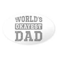 Vintage World's Okayest Dad Decal