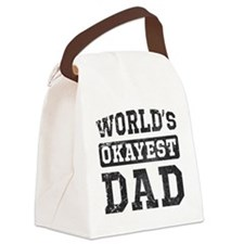 Vintage World's Okayest Dad Canvas Lunch Bag
