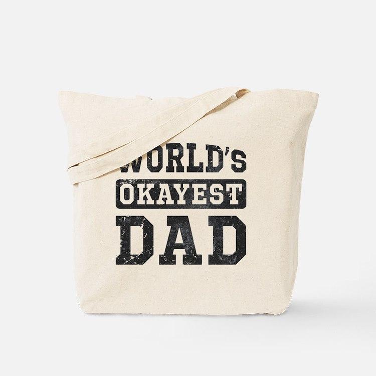 Vintage World's Okayest Dad Tote Bag