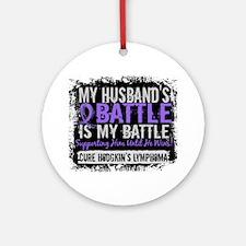 My Battle Too 2 H Lymphoma Ornament (Round)