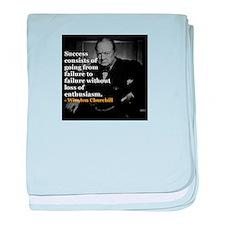 Winston Churchill on Sucess over failure baby blan