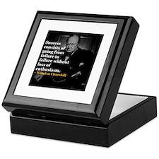 Winston Churchill on Sucess over failure Keepsake