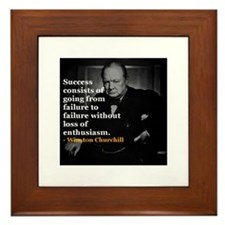 Winston Churchill on Sucess over failure Framed Ti