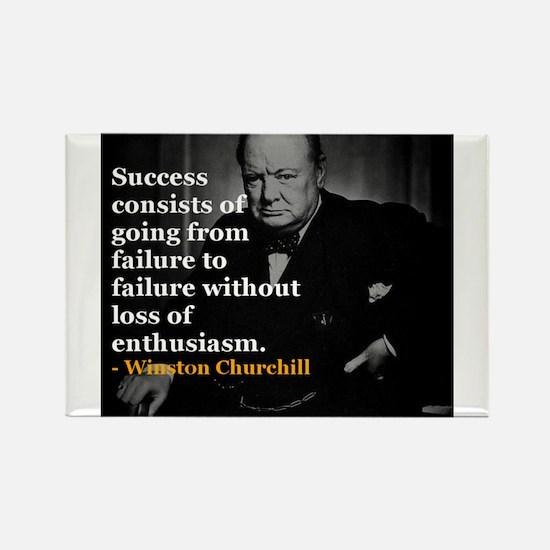 Winston Churchill on Sucess over failure Rectangle