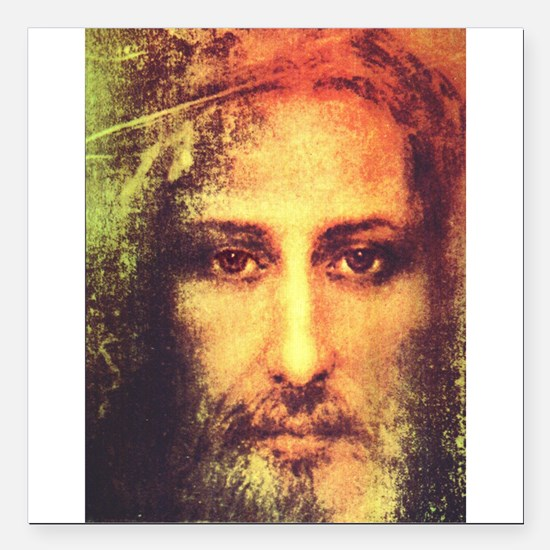"Image of Christ Square Car Magnet 3"" x 3"""