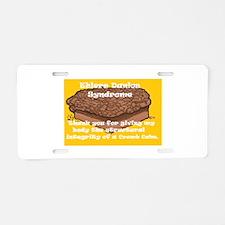 Crumb Cake Aluminum License Plate
