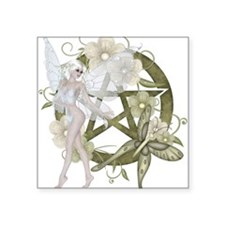 Wiccan Pentacle Beautiful Fairy Sticker