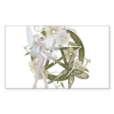 Wiccan Pentacle Beautiful Fairy Decal