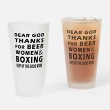 Beer Women And Boxing Drinking Glass