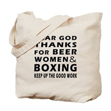 Beer Women And Boxing Tote Bag