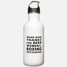 Beer Women And Boxing Water Bottle