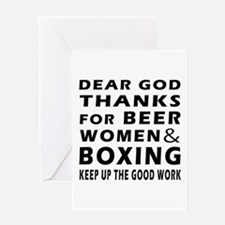 Beer Women And Boxing Greeting Card