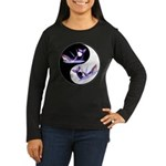 Yin Yang Dolphins Women's Long Sleeve Dark T-Shirt