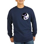 Yin Yang Dolphins Long Sleeve Dark T-Shirt
