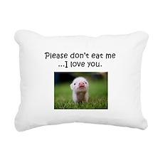 Dont Eat Me Rectangular Canvas Pillow