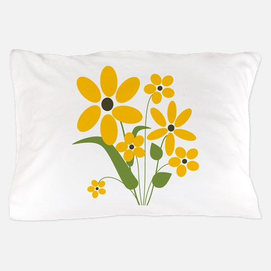 Yellow Summer Flowers Pillow Case