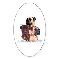 Bullmastiff 1 Oval Decal